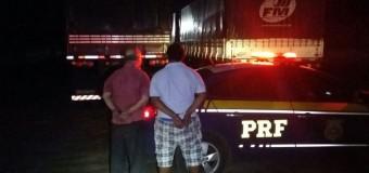 PRF prende dois ladrões de carga na BR-364 e homem armado na BR-116