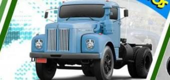 Encontro de caminhões e ônibus antigos