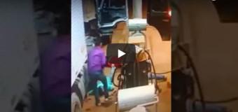 Vídeo mostra roubo a três caminhoneiros num posto em MT