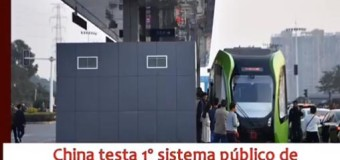 China testa transporte público sem motorista