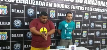 Dupla é presa suspeita de roubar carga de condicionadores de ar avaliada em R$ 1 milhão, em Manaus