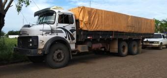 Motorista é detido por transporte irregular de madeira em Vilhena, RO