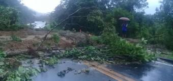 Mogi-Bertioga permanece totalmente interditada nesta sexta após queda de barreiras