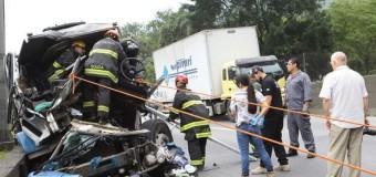 Caminhão desgovernado deixa vítima fatal na Via Anchieta, em Cubatão