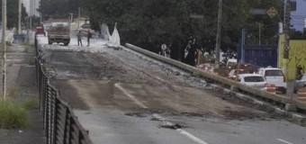 Viaduto Santo Amaro continua em obras após acidente entre caminhões