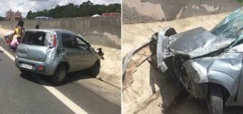 Capotamento deixa um ferido na rodovia dos Bandeirantes