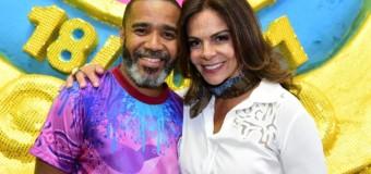 Sula Miranda visita Rosas de Ouro que vai homenagear profissionais da estrada neste carnaval