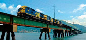 Transporte de carga por trilhos e água aumenta 33%