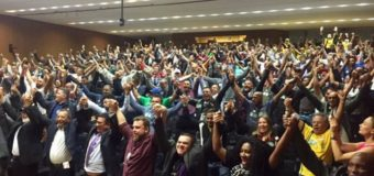 """Trabalhadores em Transporte lançam Frente Parlamentar e aprovam: """"Dia 14 é Greve Geral"""""""