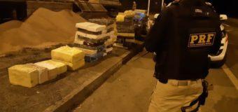 PRF apreende mais de 2 toneladas de maconha escondida em carreta
