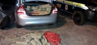 PRF apreende em Ponta Porã/MS quase 600 kg de maconha em veículo roubado em São Paulo
