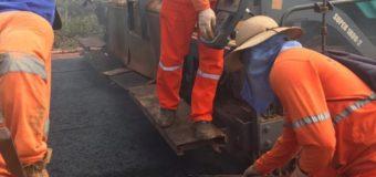 Obras na BR-163/PA avançam e 10 novos quilômetros já foram pavimentados