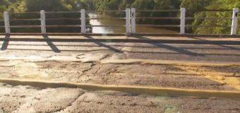 Após acidentes, motoristas reclamam de condições em ponte de Santópolis do Aguapeí