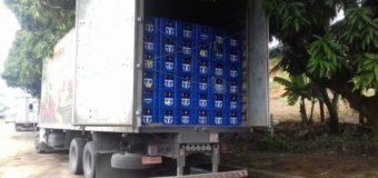 PRF apreende carga com 9.600 litros de cerveja sem nota fiscal na BR 101