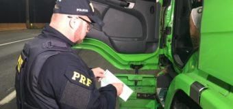 """Polícia Rodoviária Federal faz operação para """"cuidar do sono"""" dos caminhoneiros"""
