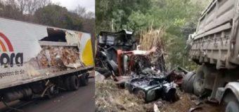 Colisão entre duas carretas na BR-153 deixa vítima fatal